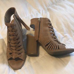 Tan Block Heel